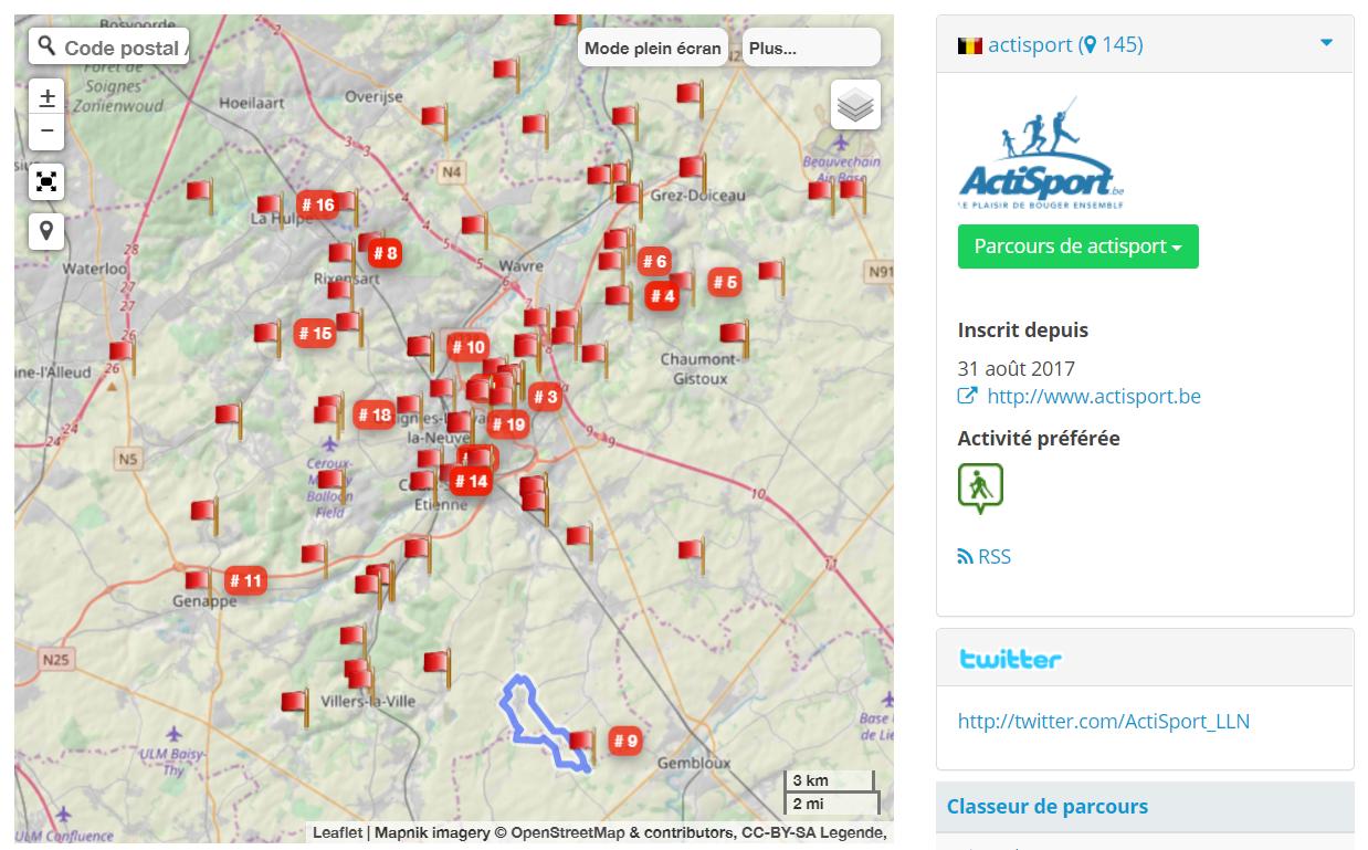 parcours Actisport GPSies